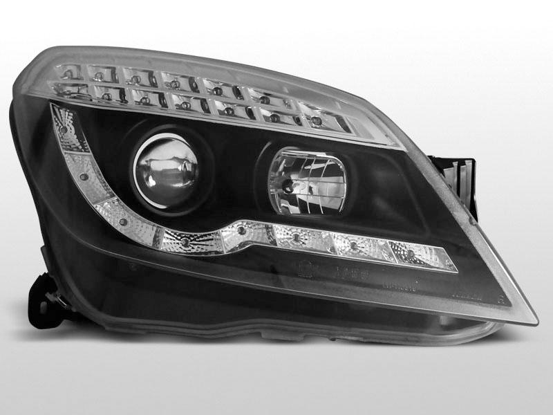 Opel Astra H 2004 Lampy Przednie Led Blinker Black